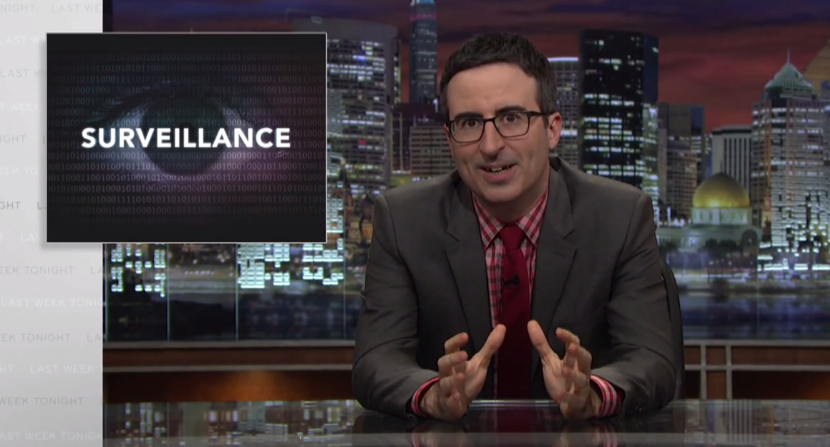 john oliver flew to russia to grill edward snowden about. Black Bedroom Furniture Sets. Home Design Ideas