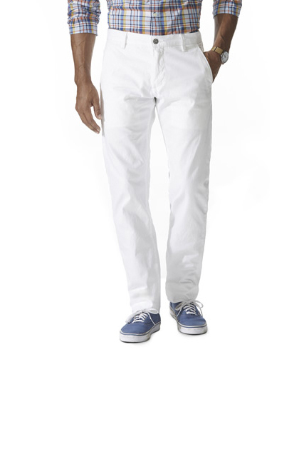 These Dockers are cut for a slim, tapered fit and feature a soft, durable 3-ply cotton fabric with a reinforced seat, belt loops, and buttons for durability. Even better, they're made using less energy and water compared to dyed products, so dad can feel good about what he's wearing when he wears these all summer long.</p> <p>Clean Khaki with Wellthread, Slim Tapered ($98) by Dockers, dockers.com</p> <p>