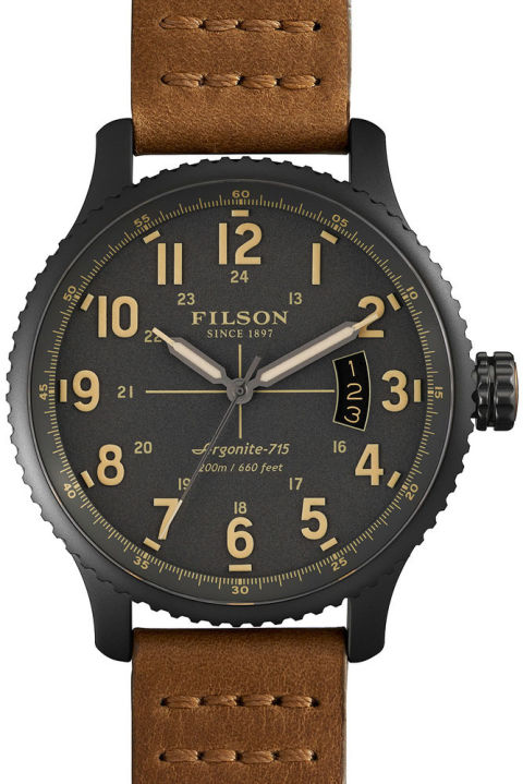 Filson's been around since 1897, so they knew enough to go to the experts when they wanted to make their first line of watches. In this case, that means Shinola, who stepped in to pack these field-worthy beauties full of American know-how in their Detroit factory.</p> <p>Mackinaw field watch ($700) by Filson, filson.com<br />