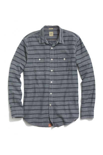 Made from soft cotton and cut for a standard fit, our chambray shirt is an easy-to-wear essential for every day. Pair it with a blazer to elevate the look or roll the sleeves for casual Fridays.<br /> Indigo stripe chambray shirt ($30) by Dockers, dockers.com<br />