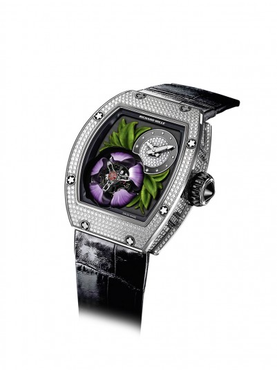 The breathtaking RM 19-02 Fleur is Richard Mille's ode to nature and comes with a flying tourbillon and diamond-crusted case. RM 19-02 Tourbillon Fleur (price on request) by Richard Mille, richardmille.com