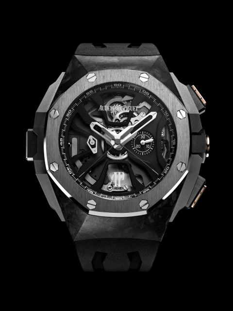 The Royal Oak Concept Laptimer took five years to develop and is made specifically for motorsports, hence its alternating consecutive lap timing and a flyback function.  Royal Oak Concept Laptimer ($229,500) by Audemars Piguet, audemarspiguet.com