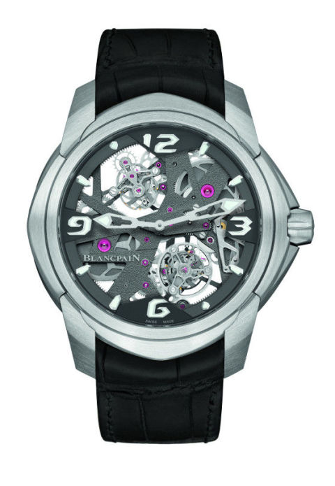 The L-Evolution Tourbillon is the next step in—you guessed it—tourbillions, and also features a contemporary set of skeletonized hands to let its beautiful dial shine through.  L-Evolution Tourbillon Carrousel ($373,130) by Blancpain, blancpain.com