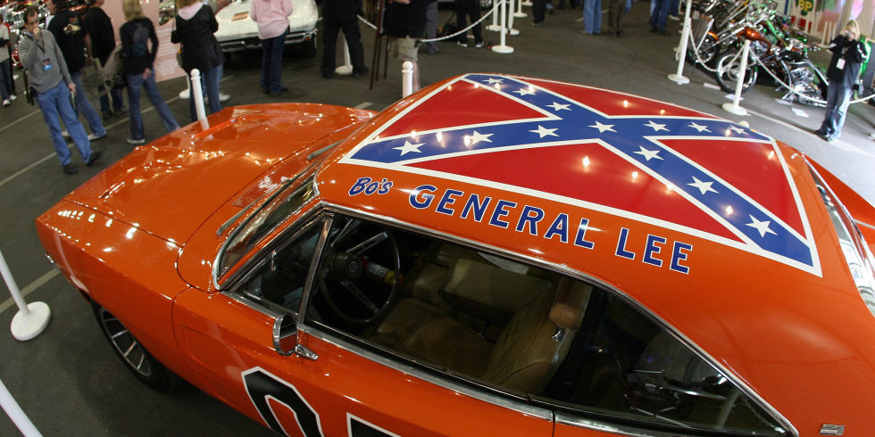 Places Where The Confederate Flag Is Banned - Rebel flag truck decals   online purchasing