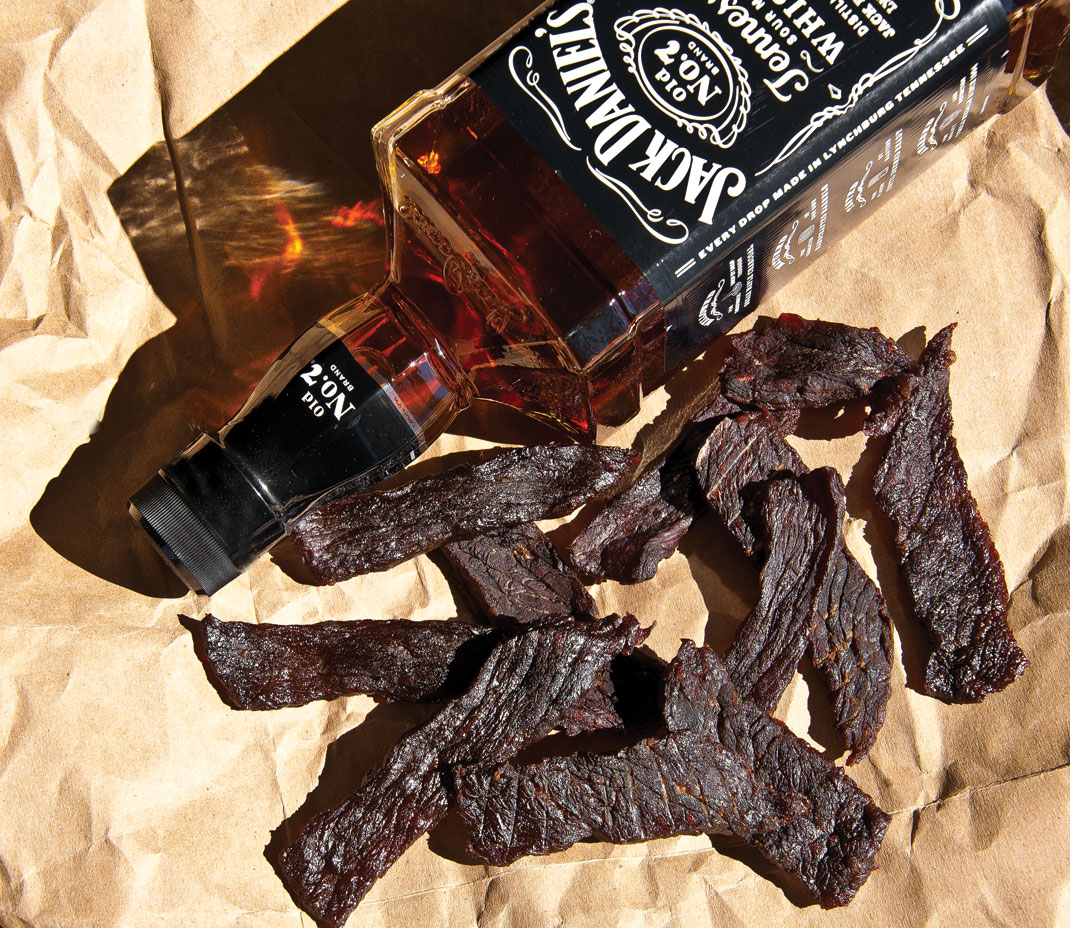 New york strip jack whiskey marinated