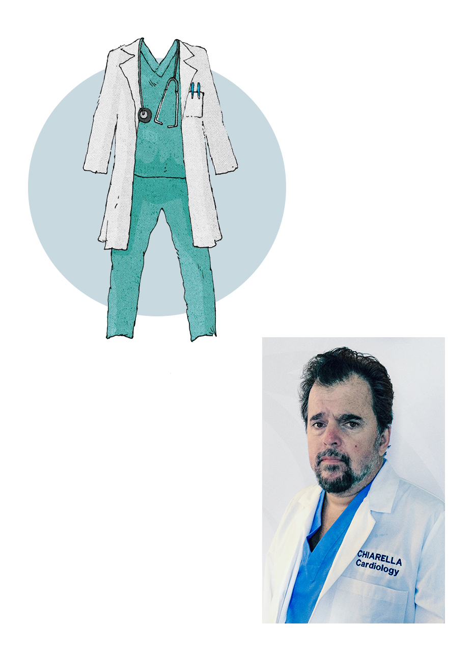 Tom Chiarella as a doctor