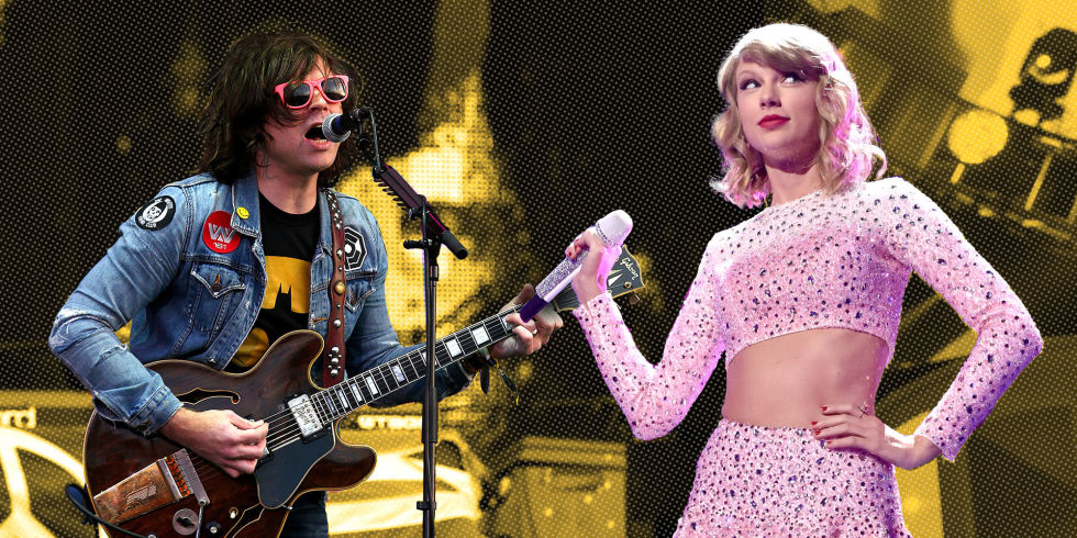 Foto på Ryan Adams & hans vän  Taylor Swift