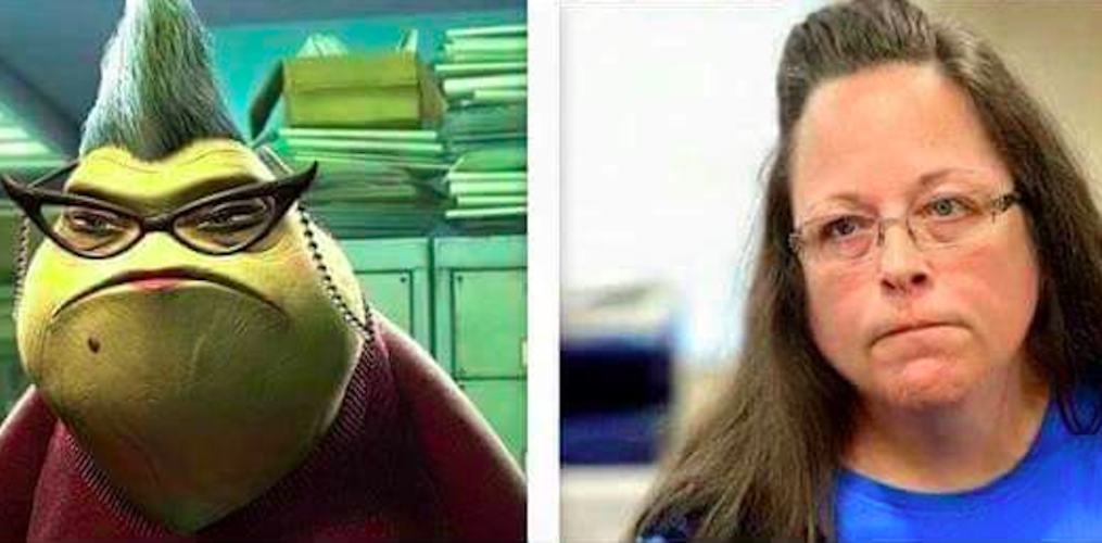 Some Genius Mashed Up Kim Davis and Roz From Monsters Inc.