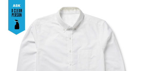 How to get rid of those collar stains once and for all for How to get yellow stains out of white shirts