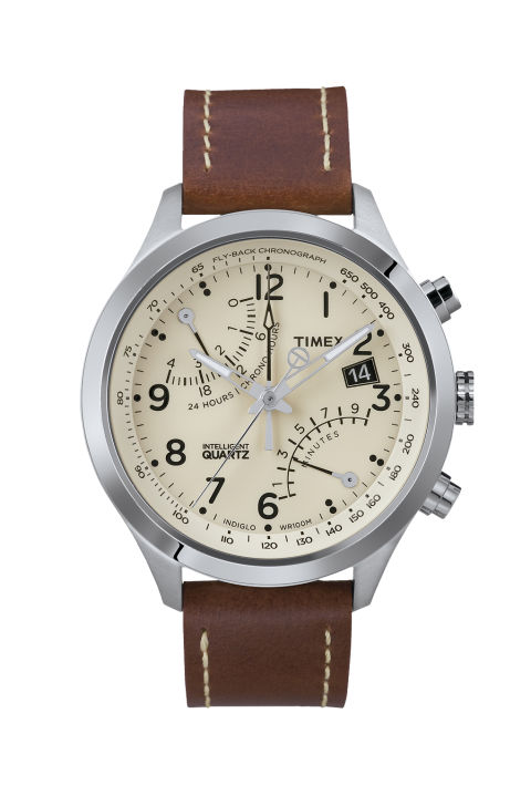 c strap shop watch leather for s men watches brown type fairfield chronograph timex browse by