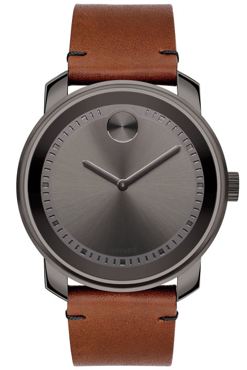 bering men watches mens brown calfskin watch s