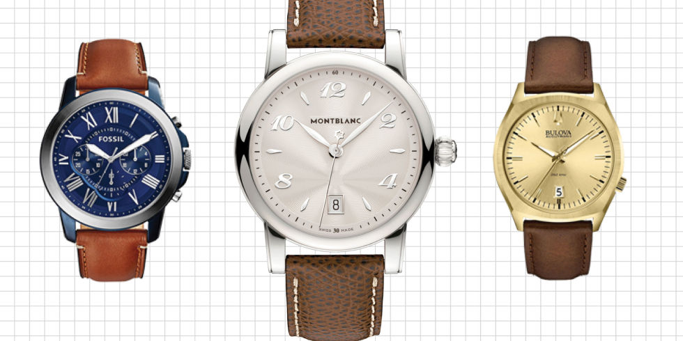 watches with brown leather bands