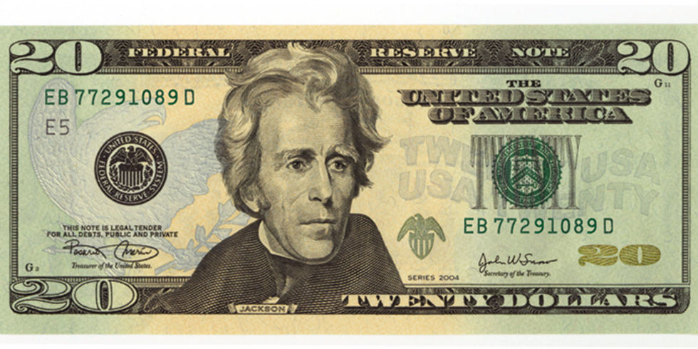 Image result for 20 dollar bill
