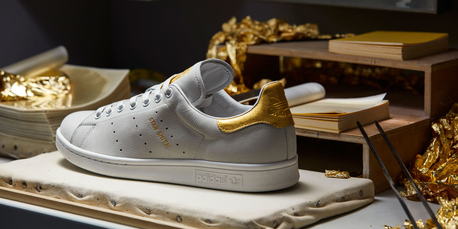 "... adidas Originals Stan Smith 999 ""24K Gold""  You Can Finally Have Those 24K  Gold Sneakers You ve Always Wanted ... 144c1d4c4"