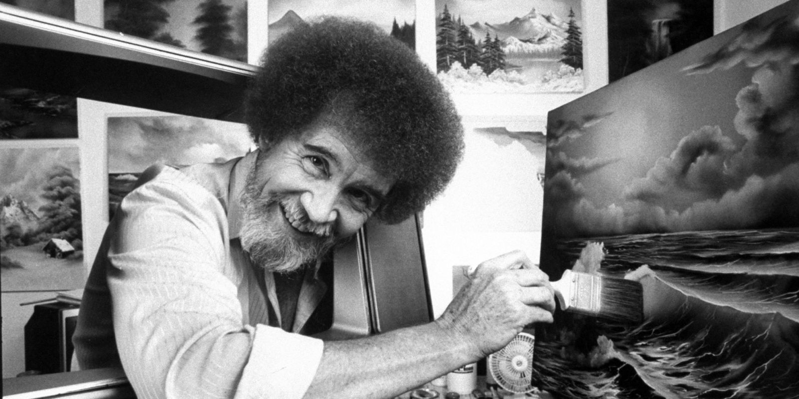 happy little trees painter bob ross didnt have curly