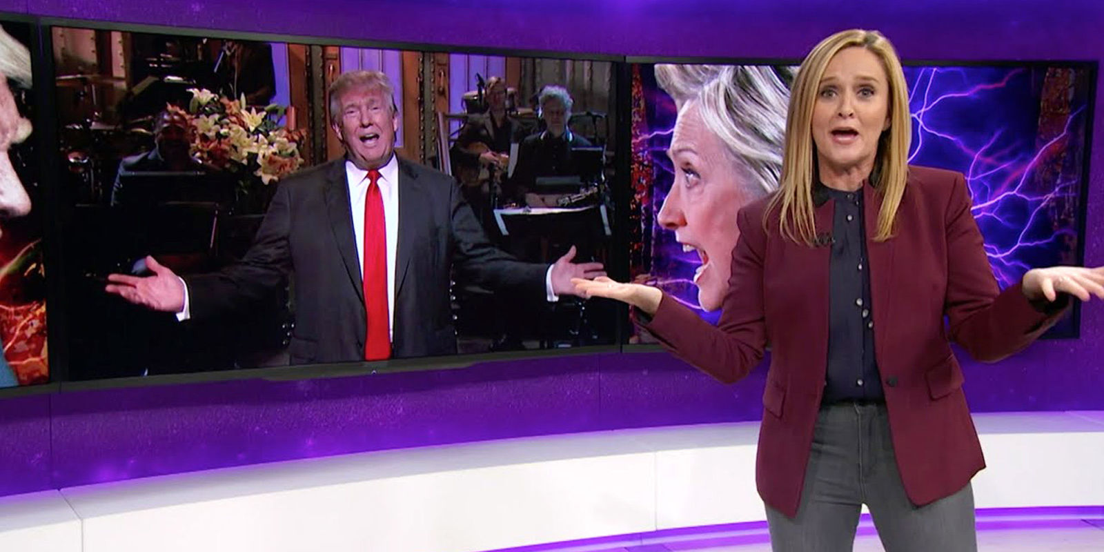 sam bee is at the top of her game so of course a