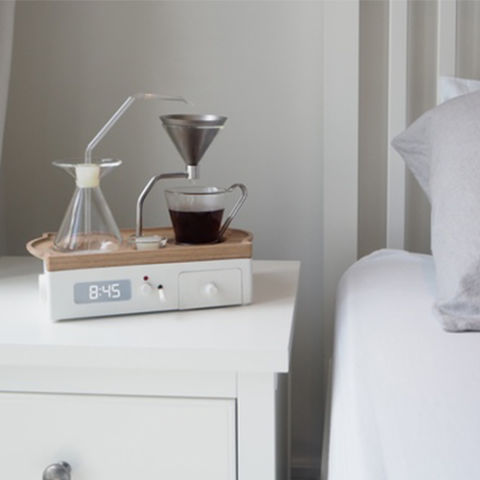 from $299 BUY NOWAll of our dreams are coming true! We can finally wake up to the smells and sounds of freshly brewed coffee with the Barisieur Alarm Clock. Funded through Kickstarter, this alarm clock doesn't make screeching noises to get you out of bed. Instead, it will brew you a fresh cup of coffee or tea at the time of your choice. It comes complete with a specially refrigerated spot for milk and plenty of storage for sugar, extra coffee grounds, and stirrers.More: 12 Unconventional Alarm Clocks