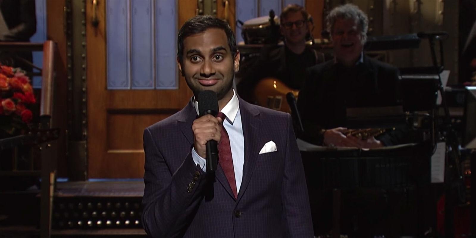 Aziz Ansari Delivered a Hilarious Anti-Racist SNL Monologue