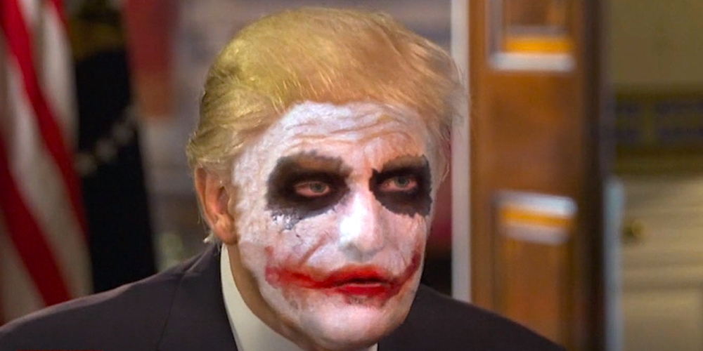 Donald Trump In Joker Makeup The Daily Show Gives