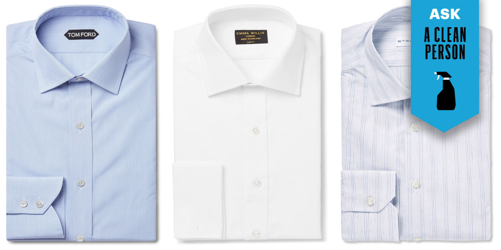 How to skip the dry cleaner and wash your dress shirts at home for How to clean white dress shirts