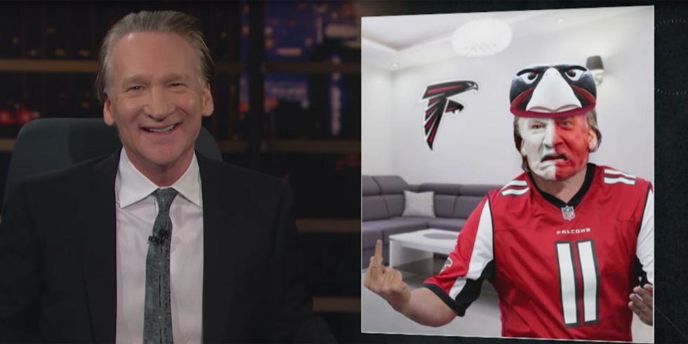 Image result for bill maher, atlanta falcons