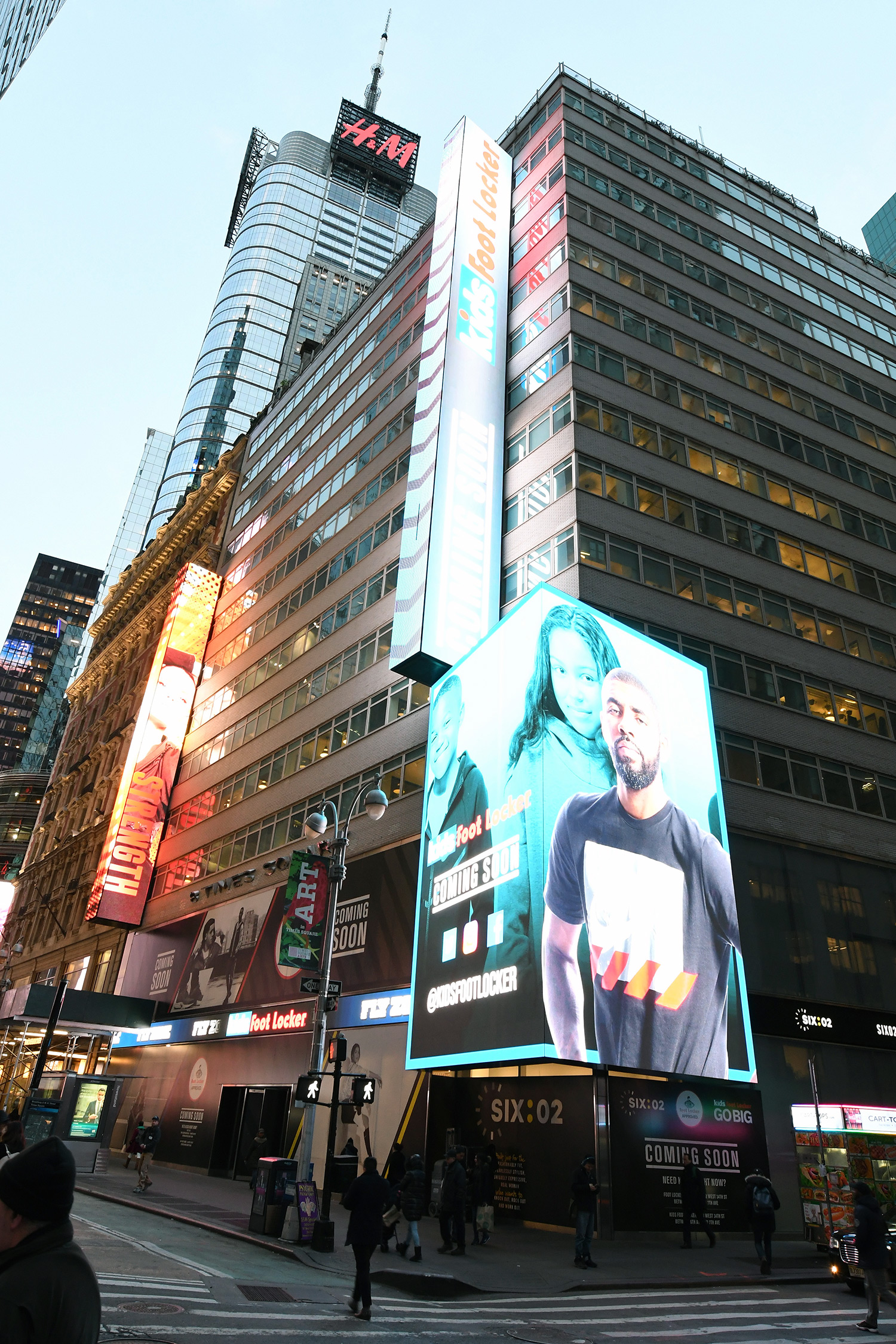 Outside of Times Square Foot Locker