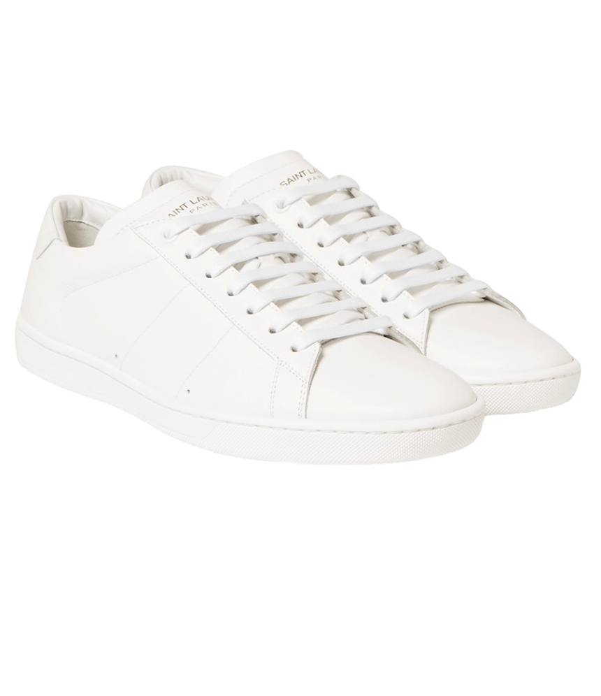 White Leather Tennis Shoes  S