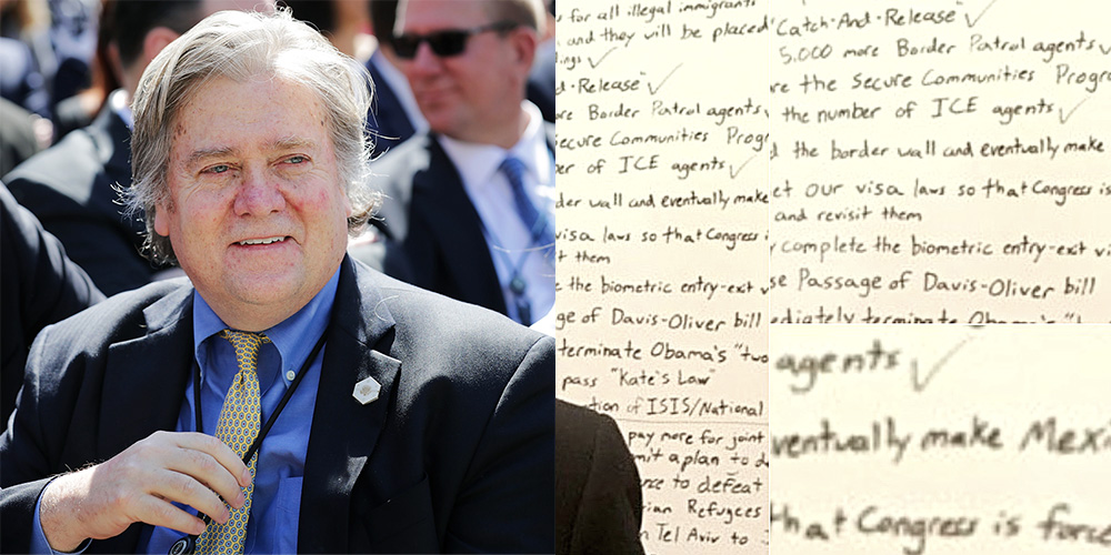What's Your Favorite Part of Steve Bannon's Whiteboard?