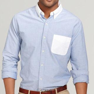 Mens Contrast Collar Dress Shirts