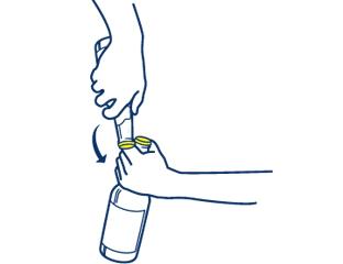 how to open beer bottle using hands