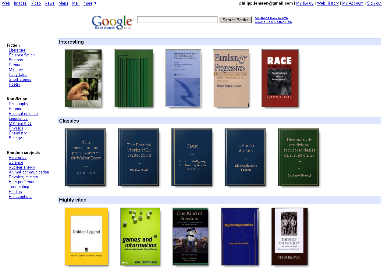 Find and Download Public Domain Books From Google