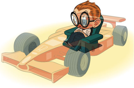 how to become a racecar driver in f11