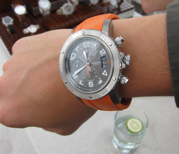 hermes watches for men titanium clipper chronograph by hermes