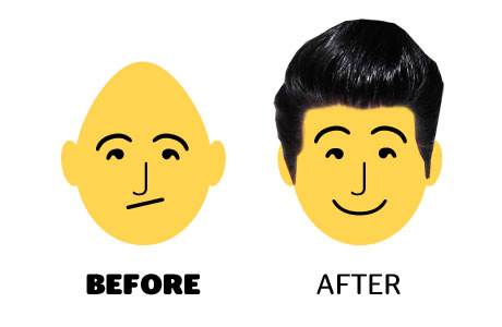 how to make baby head round shape