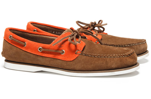 Timberland Boat Shoes - Orange Timberland Boat Shoes