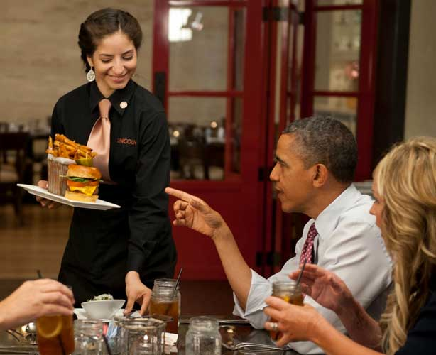 Obama Burger Lunch - President Obama and Burgers