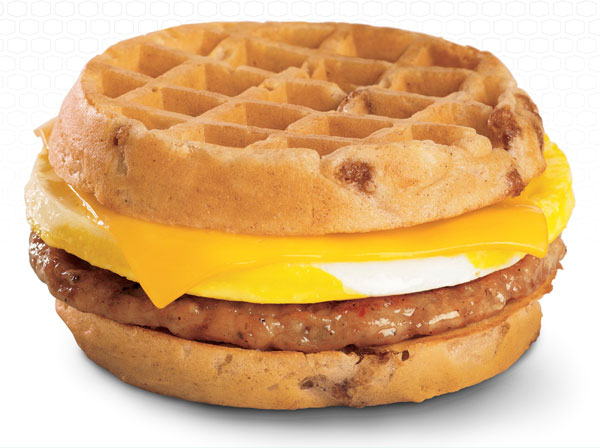 Bacon and egg waffle sandwich easy brunch ideas - bacon and egg waffle sandwich