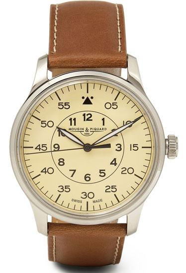 From a timepiece brand that was resurrected by J.Crew last season, an offering that will draw eyes from any wrist. Grande second stainless steel watch ($425) by Mougin & Piquard x J.Crew, mrporter.com