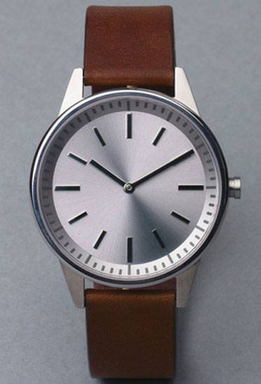Here's a small company known for making watches that are so dead simple, they'll look right in any environment. Especially with a face like that. 250 series ($482) by Uniform Wares, uniformwares.com