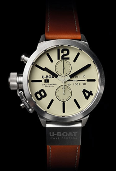 Both beefy and restrained at the same time, from an Italian watch company on our radar. Classico ($3,100) by U-Boat, tourneau.com
