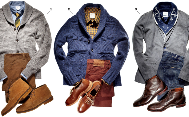 Shawl Collar Sweater Under Blazer The Shawl-collar Sweater — How