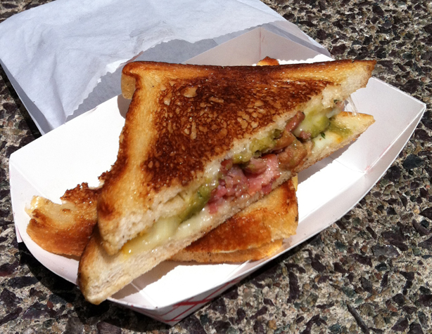 Grilled Cheese Roxys Green MuensterGrilled Cheese Roxys Boston