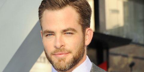 chris pine 39 s got the best reason to wear a beard in 2014 chris pine wears a beard for this. Black Bedroom Furniture Sets. Home Design Ideas