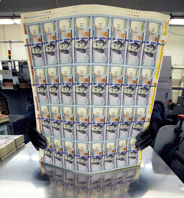 paper used for printing money