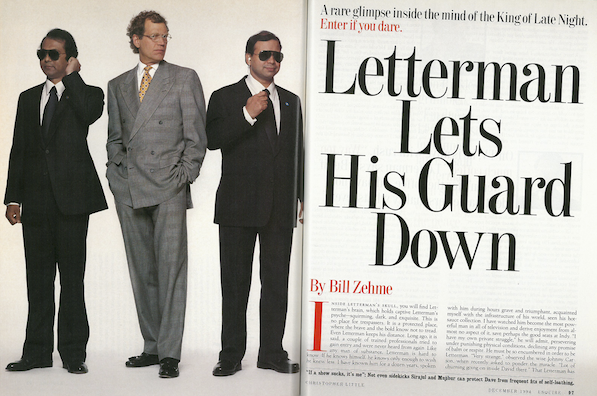 Michelle Cook David Letterman Letterman lets his guard down