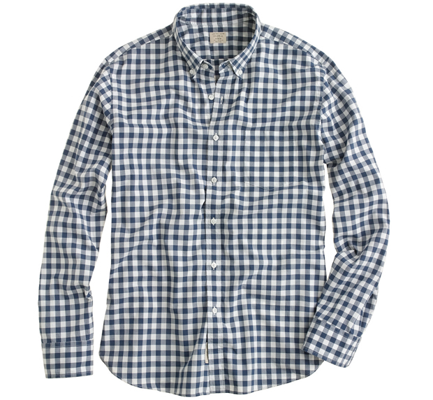 Gingham shirts instagram shows everyone wears j crew for Mens blue gingham shirt