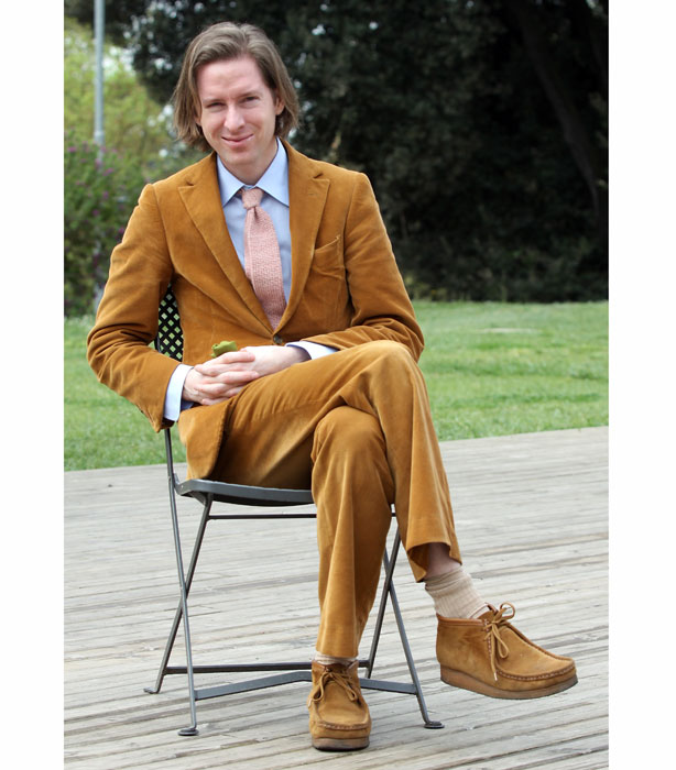 wes anderson corduroy suit wes anderson clarks wallabees