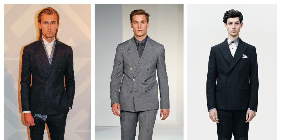 London Men's Fashion Week Shows Double-Breasted Suits - Best