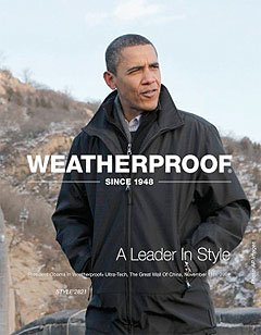 Weatherproof Obama Jacket - Obama Billboard Jacket