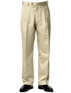 Pleated Khaki Pants